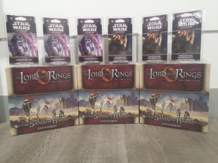 Latest Releases of Lord of the Rings LCG & Star Wars LCG
