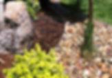 Landscaping in Utah, Rock mulch, Bark mulch, Boulder, grass
