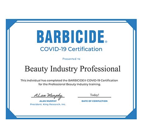 Barbicide Certification - FREE