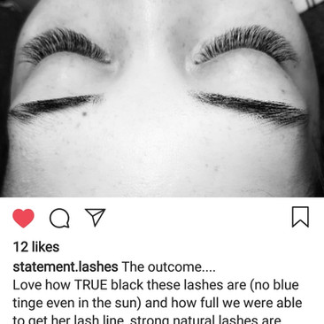 Designer Lashes hunts down the DARKEST black lashes for your masterpieces - to see this photo in live action click here;