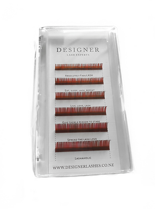 Designer Lashes - Red/Black