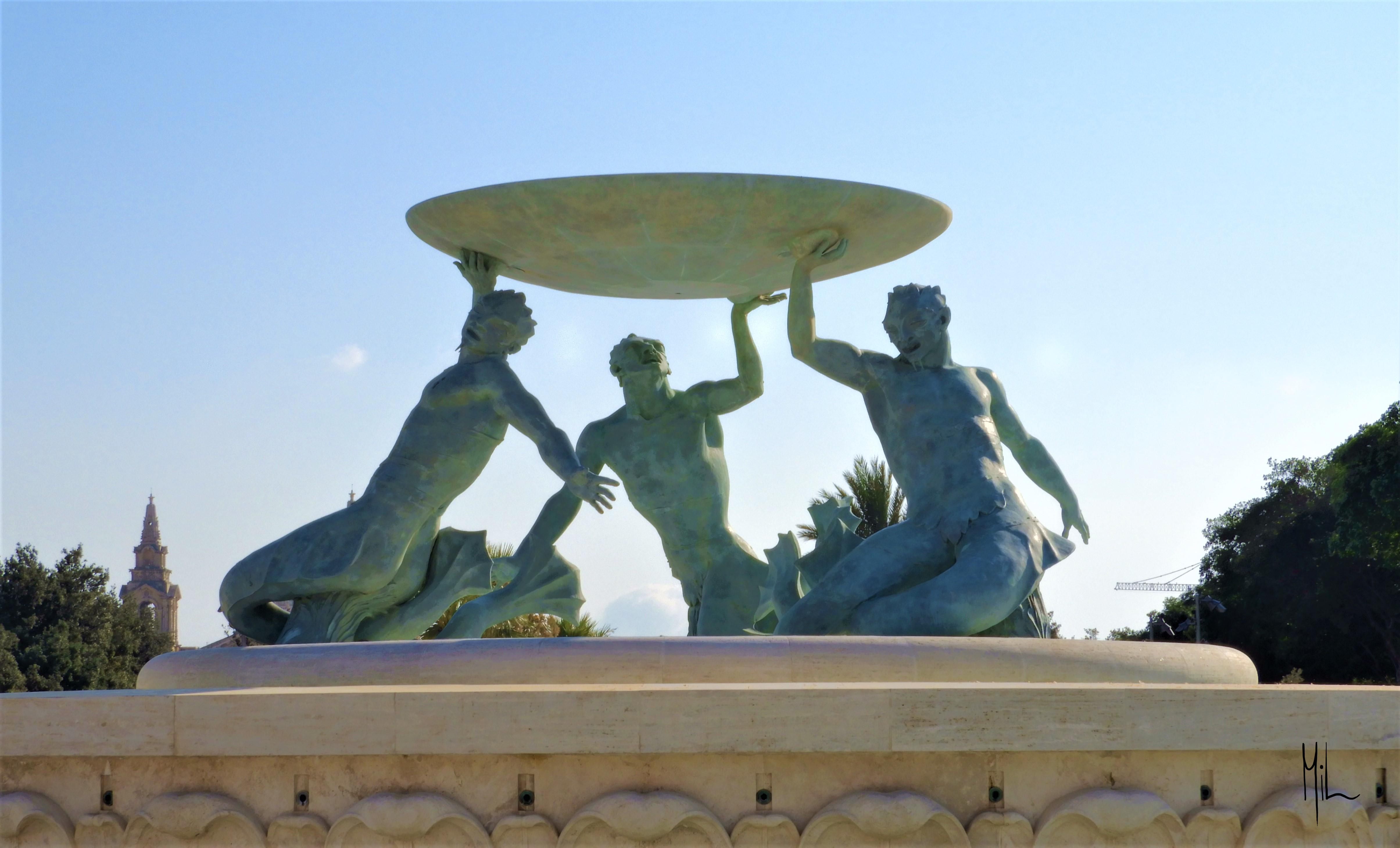 Statue i Valletta