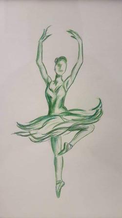 Grøn ballerina