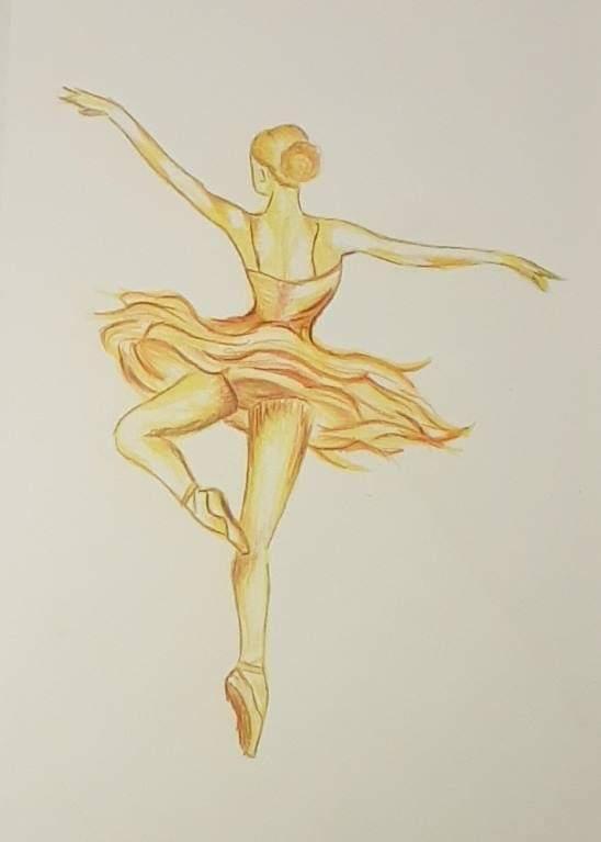 Gul ballerina