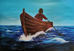 Båttur - Deep Edge - 100x70 cm