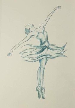 Blå ballerina