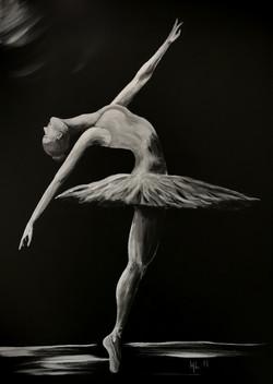 Ballerina - Lerret - 50x70 cm