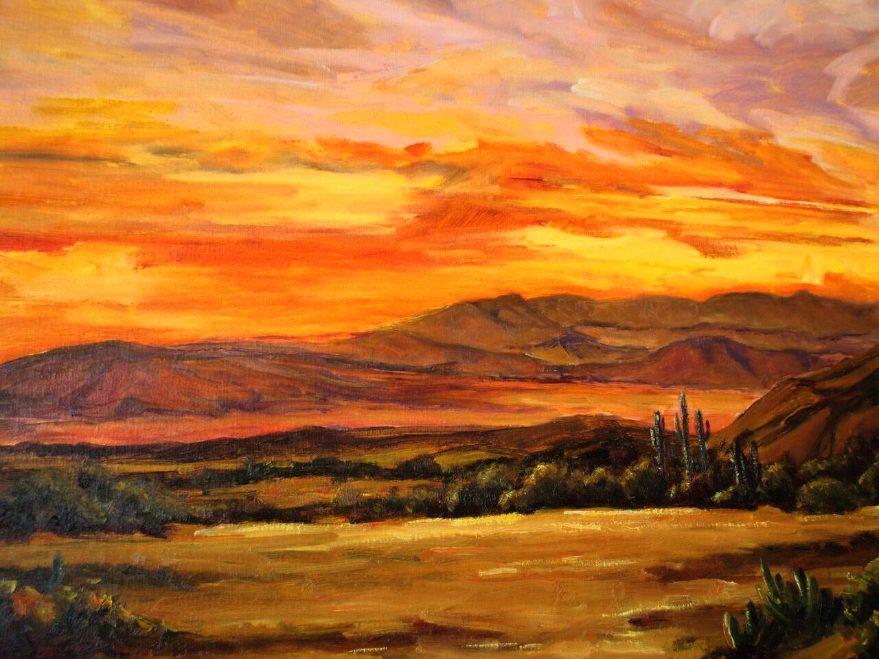 Desert Mountain Senset
