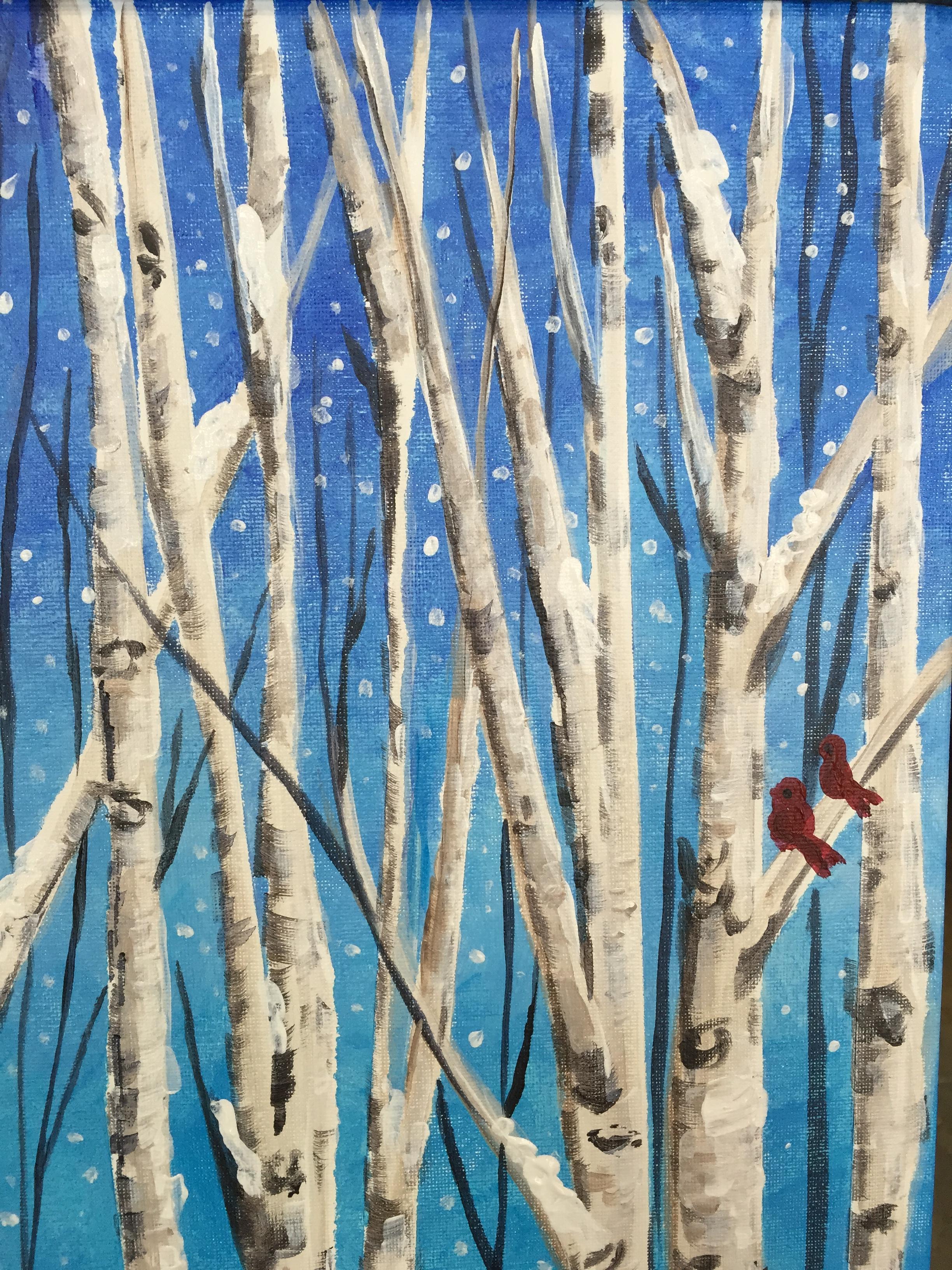 Aspens in winter