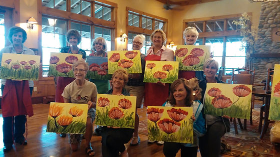 Steamboat Art Strokes mobile painting session. Special event request