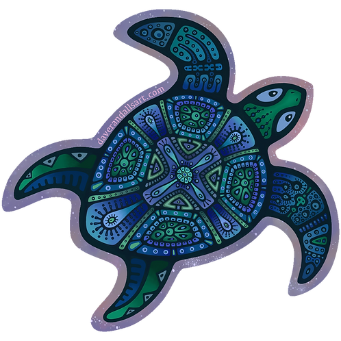 Cosmic Turtle - (Vinyl Sticker)
