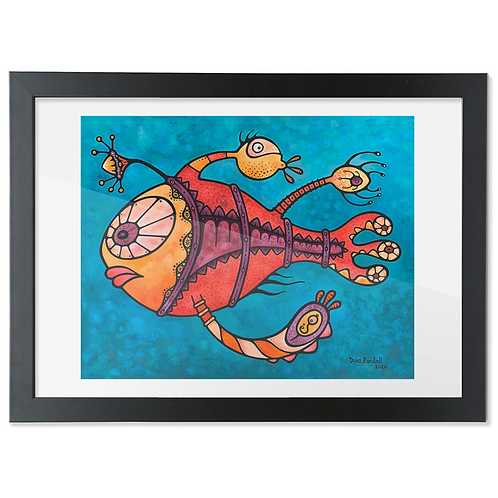 Emily (The Part Fish) - (Giclée Framed Print)
