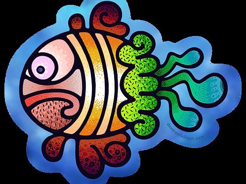 Cedric the Fish - (Vinyl Sticker)