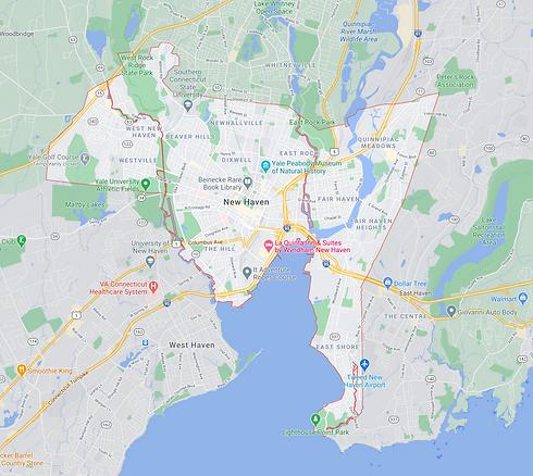 new haven Connecticut map