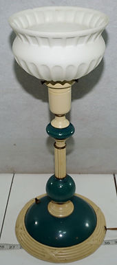 1940s Edward Kent Table Lamp mfg by Railley Corp