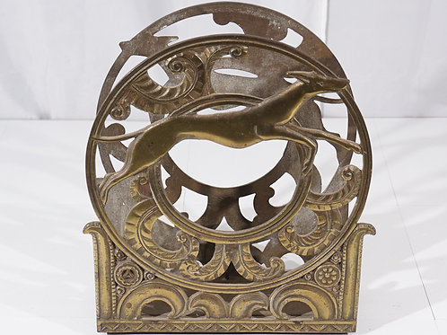 1920s Art Deco Brass Magazine Rack