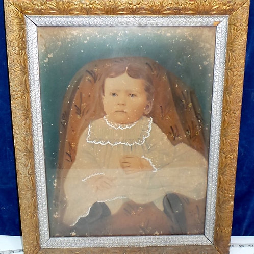 Gilt Frame with Print of a Baby