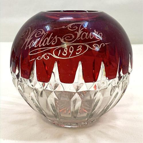 1893 Ruby Red Souvenir Glass
