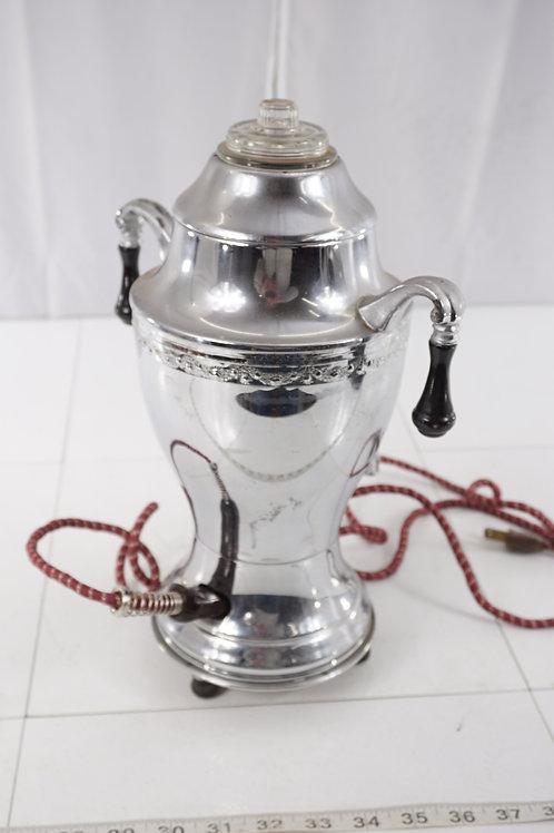 Electric Percolator Coffee Pot By Continental Silver Co