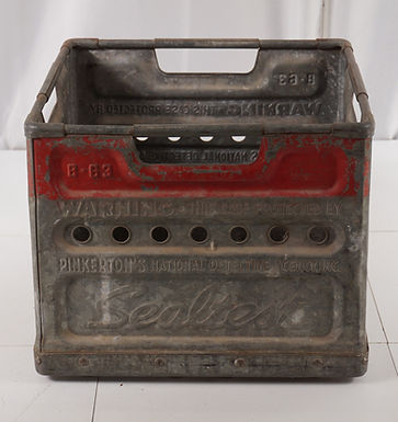 1960s Metal Sealtest Milk Crate