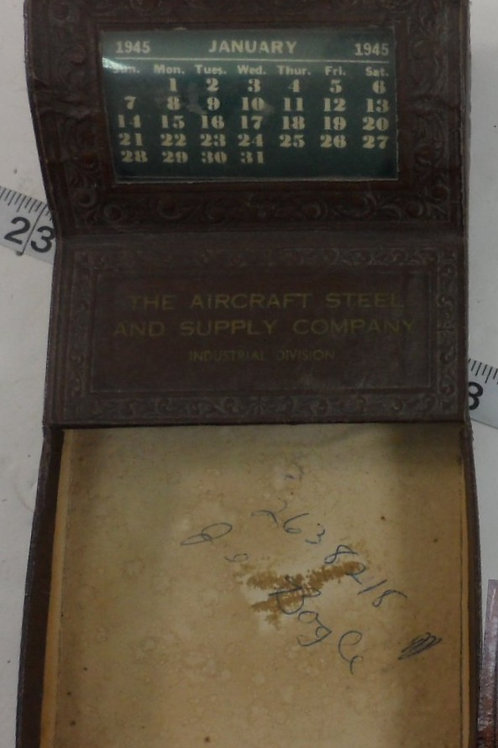 """Advertisement Calendar """"The Aircraft Steel and Supply Co"""""""