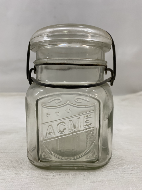 ACME Jar with Glass Lid wire-side
