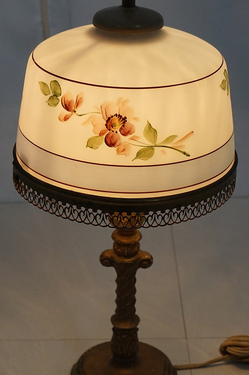 Table Lamp With Hand Painted Glass Shade