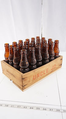 24 Uncle Jo 4 Oz Bottles with Original Crate Ca 1929