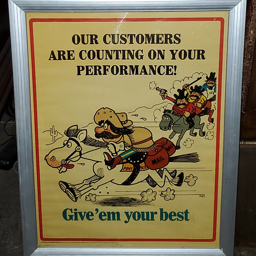 Framed Awareness Poster - Our Customers Are Counting On Your Performance