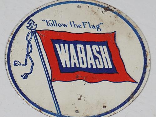 Small Wabash Railroad Sign