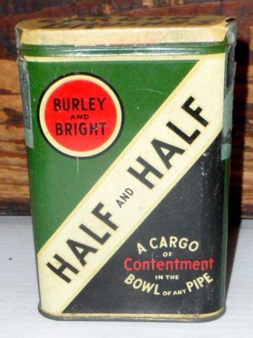 Half and Half Tobacco Tin