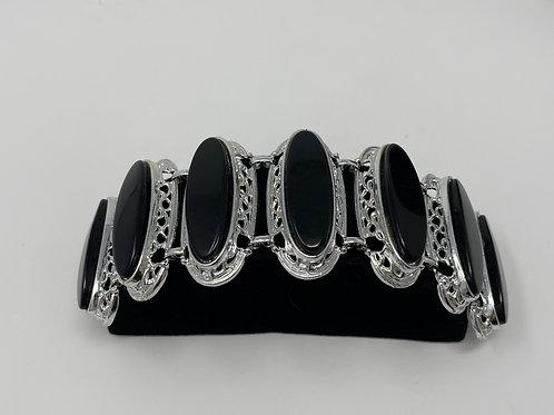 Black Link Plastic Bracelet
