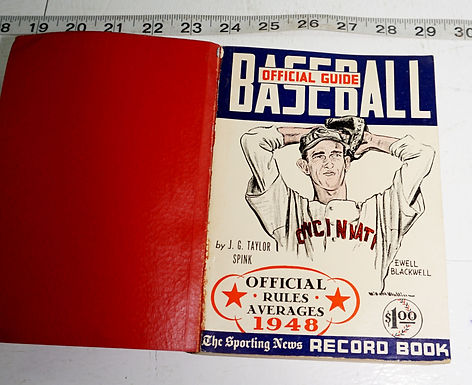 1948 Baseball Official Guide - Official Rules And Averages