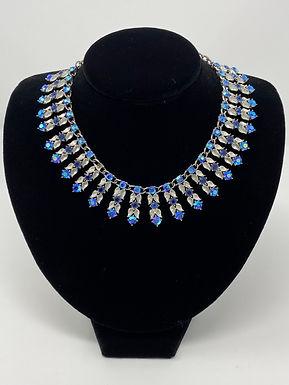 Blue Aurora Borealis Rhinestone Choker