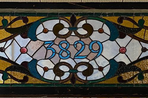 Transom Stained Glass Window 3829