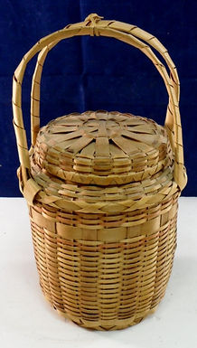 Northeast Native American Basket With Lid