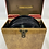 Thumbnail: Vintage Metal 45 RPM Record Case Red andTan Plastic Red Handle with Records