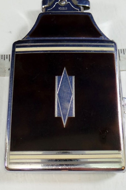 Ronson Chrome Art Deco Cigarette Case Lighter