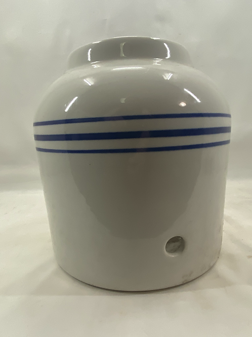 Blue Band Stoneware Water Cooler