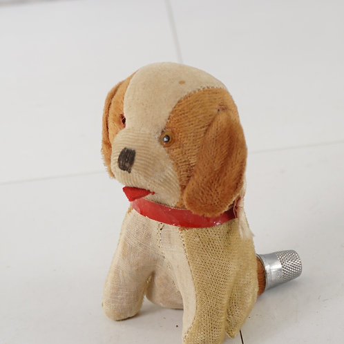Sewing Dog Pincushion Thimble And Tape Measure - Made In Jap