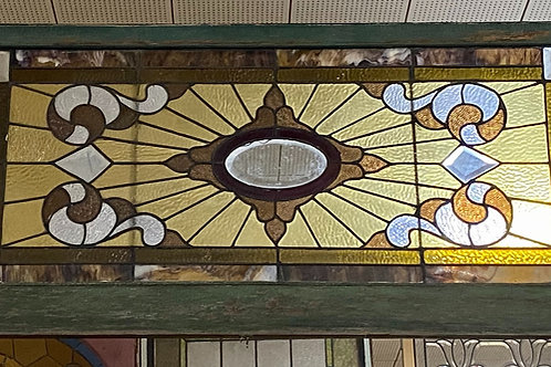 1890s -1900s Stained and Beveled Glass Window
