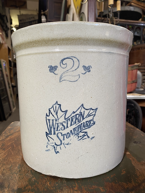 2 Gallons Crock Western Stoneware