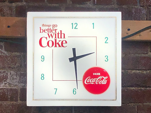 "Coca-Cola ""Things go better with Coke"" Clock 1960s"