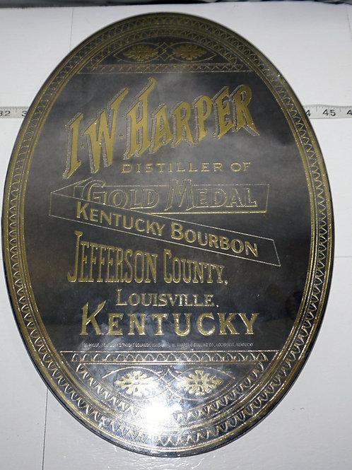 Advertising Mirror - I W Harper Distiller Of Gold Medal Kentucky Bourbon