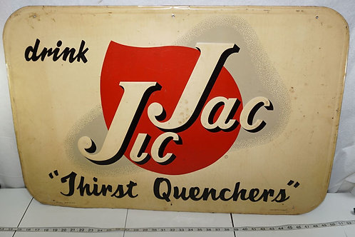 1930s Drink Jic Jac Advertising Sign