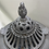 Thumbnail: 1896 Omega Cast Iron Heat Stove with Finial