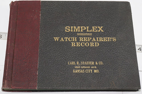 Simples Watch Repairs Record Book