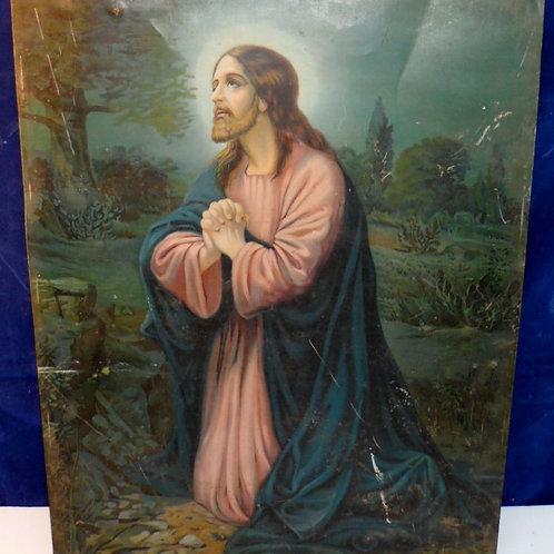 Catholic Lithograph Tin of Jesus