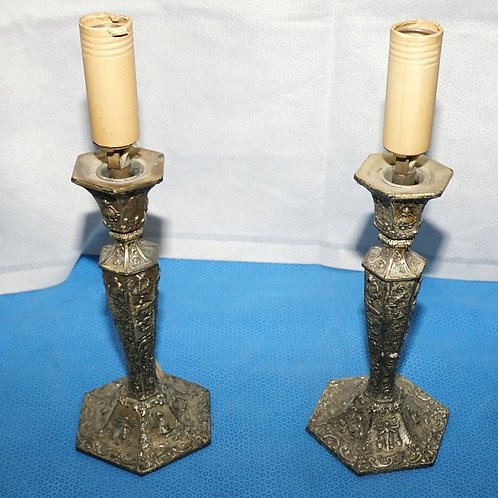Pair of W.B. MFG Co Table Lamps