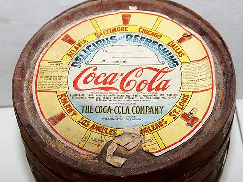 Coca-Cola Syrup Wooden Barrel